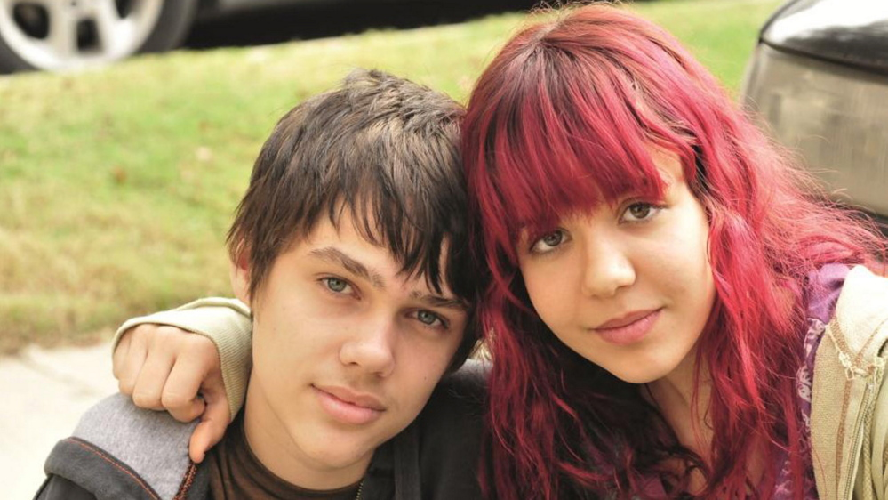 """Ellar Coltrane, left, and Lorelei Linklater, in """"Boyhood,"""" traces a boy's life over 12 years and was shot over 12 years, will shown at ."""