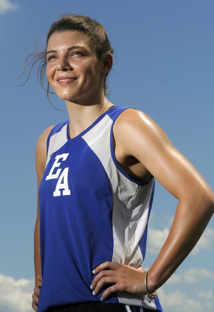 Erskine Academy's Jade Canak is the Kennebec Journal's female track athlete of the year.
