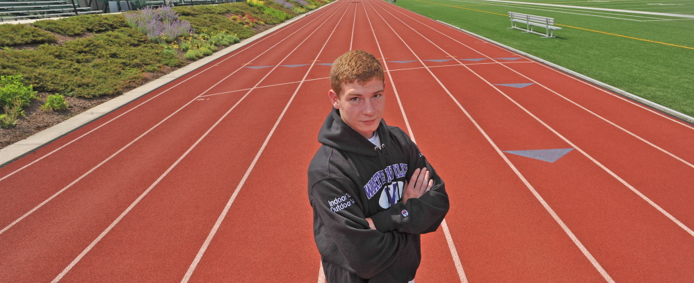 Jordhan Levine is the Morning Sentinel's boys track athlete of the year.
