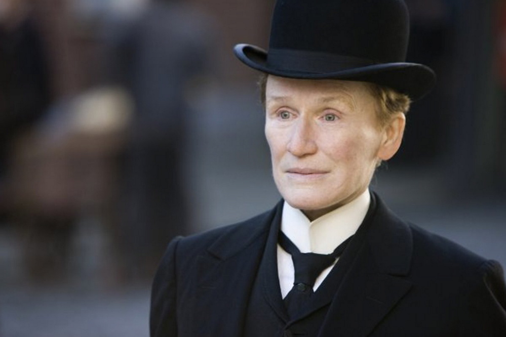 "Glenn Close in ""Albert Nobbs,"" which was nominated for three Academy Awards, including Best Actress in a Leading Role for Close."