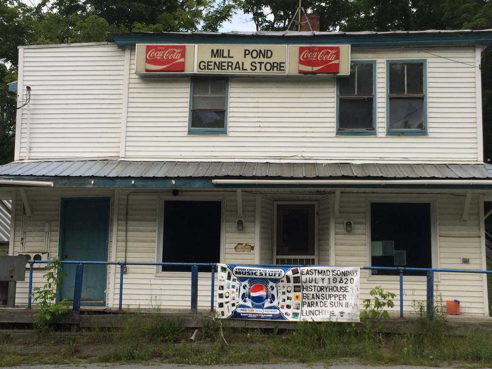 Mill Pond General Store in East Madison is one of two town-owned properties set to be demolished this summer.