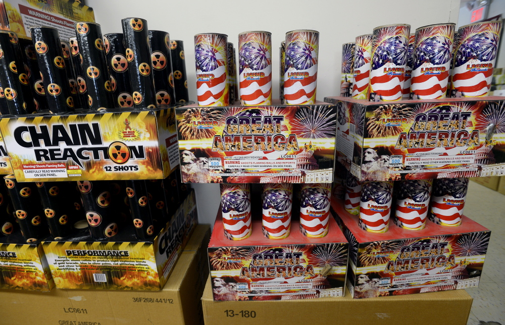 Consumer fireworks, like these, may be banned in Benton except on the Fourth of July. Resident vote at a special town meeting next month.