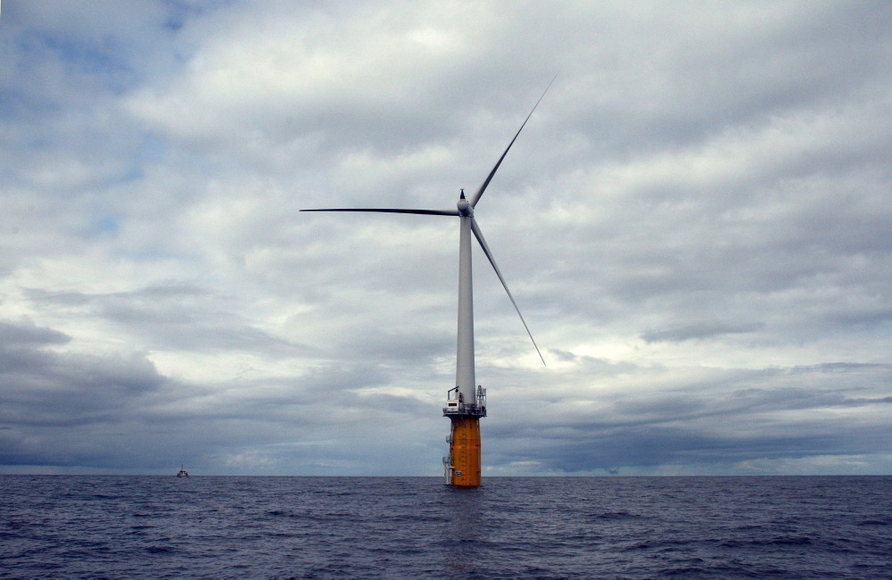 This turbine 12 miles off the coast of Norway shows the kind of technology the company wanted to build in Maine waters.