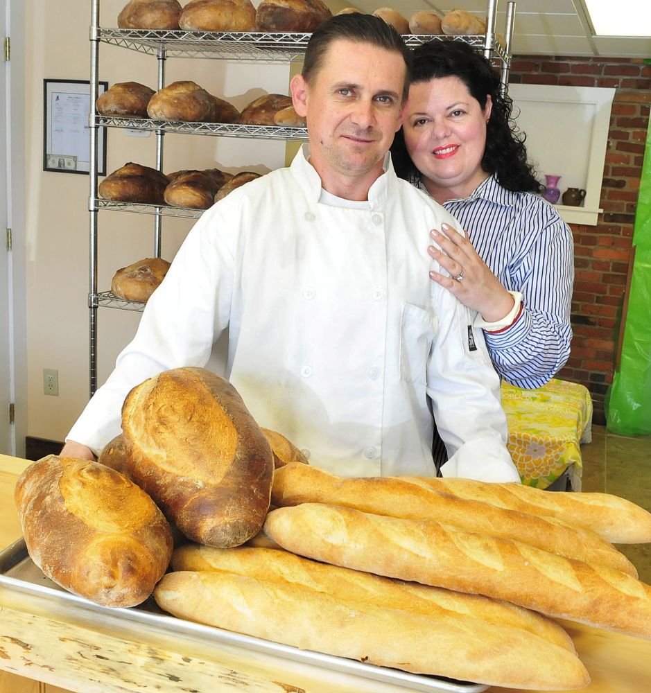 Adrian and Nicole Sulea are among the new small-business owners who have opened shops in downtown Waterville. Adrian owns Artisan Breads and Nicole runs Heirloom Vintage Boutique, located side-by-side in a converted garage on Temple Street.