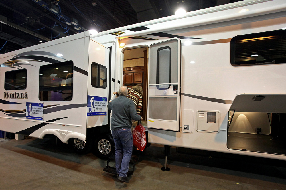 Sales of recreational vehicles are poised to approach a pre-recession peak, which also bodes well for the still-recovering U.S. boat business.