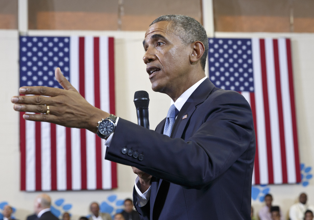 President Barack Obama speaks about the My Brother's Keeper Initiative, at the Walker Jones Education Campus in Washington.