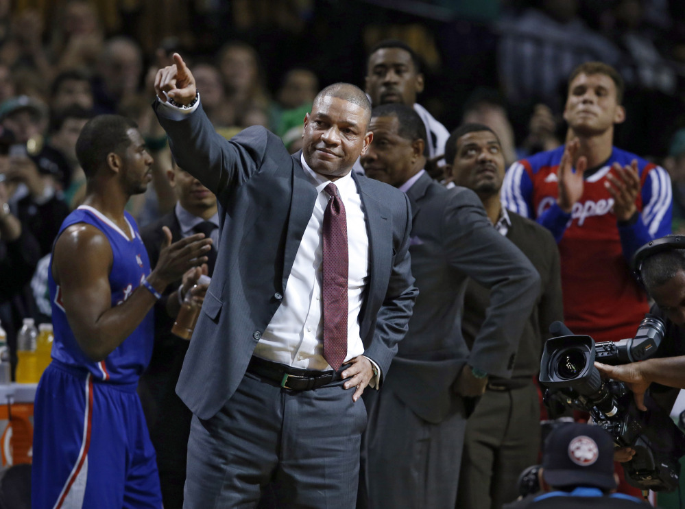 Current Los Angeles Clippers head coach and former Boston Celtics head coach Doc Rivers said he'd quit if Donald Sterling remains the owner, the interim CEO testified Tuesday.