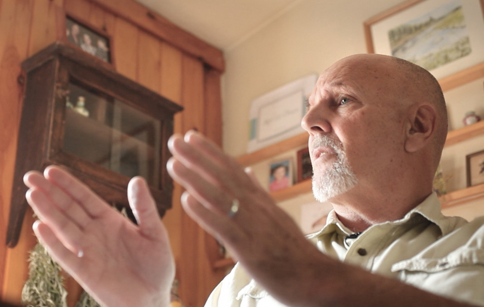 Rob Jackson, 66, an Army veteran of the Vietnam war, talks about his wartime service as a medic Monday at his Buxton home. Jackson served as a conscientious objector and did not carry a gun. In a Washington, D.C., ceremony this week, Jackson will receive a Silver Star for saving several soldiers' lives in 1970.