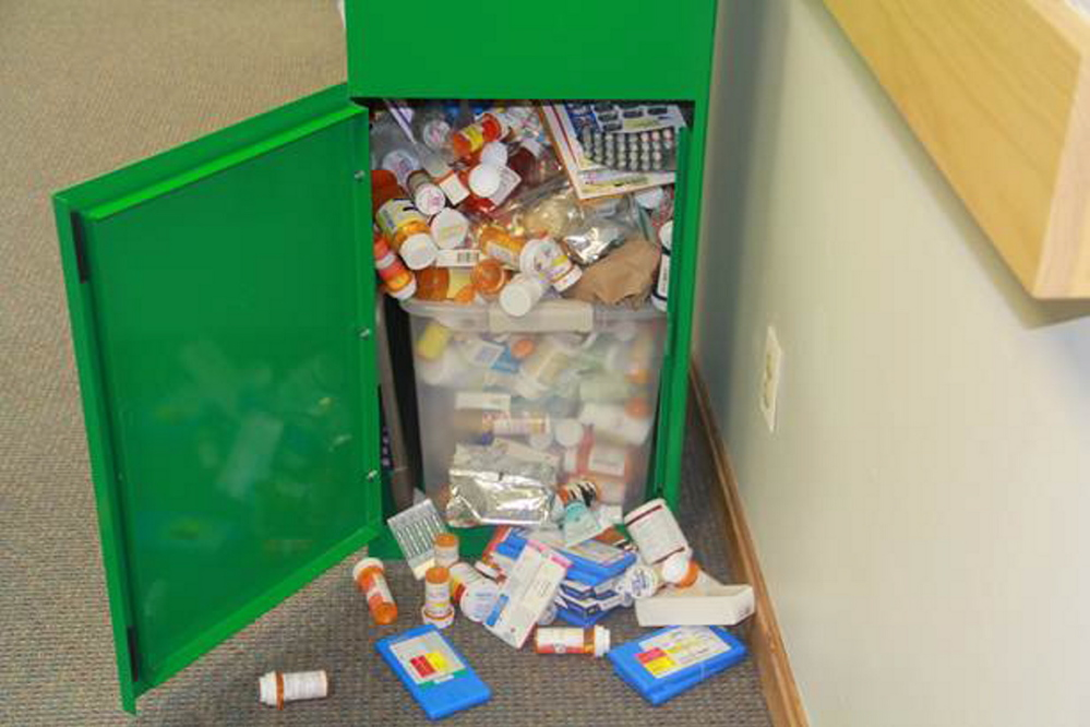 Farmington residents have been putting items other than unused, expired prescription medication in the medication collection box and police are asking that they stop.