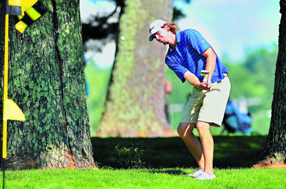 Evan Harmeling is back to defend his title as the Charlie's Maine Open starts Monday at the Augusta Country Club. Harmeling shot a 7-under par 133 to hold off Jesse Spiers last year to win the tournament.