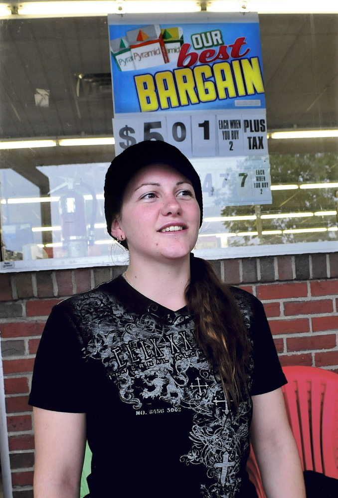 Shopper Brittney Parmenter said both convenience and prices are important to her in shopping the Family Dollar and Dollar Tree stores on The Concourse in Waterville.