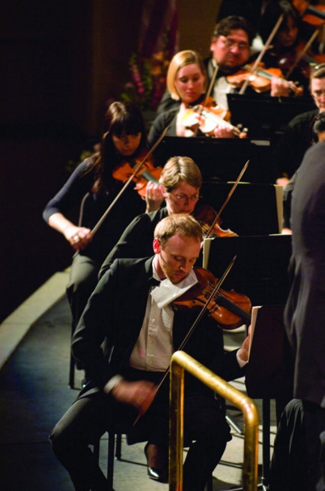The Portland Symphony String Quartet Orchestra will perform at 7 p.m. Saturday at the Messalonskee Performing Arts Cente, 131 Messalonskee High Drive. The concert is free. For more information, call 465-9135.