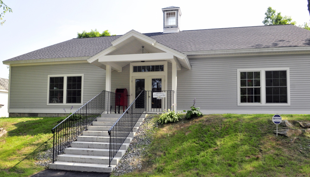 The new Umberhine Public Library is seen in a photo on Thursday in Richmond. It is scheduled to open on August 9th.