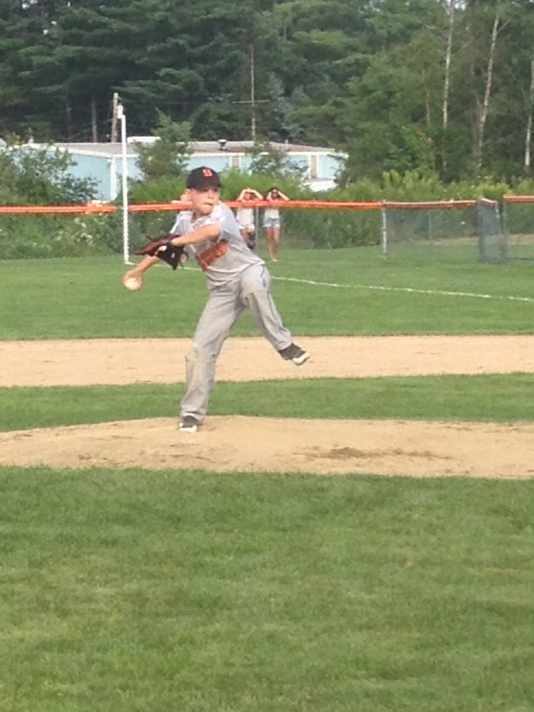 Skowhegan pitcher Cam Louder delivers against Marlboro during the 11 U Cal Ripken New England tournament on Sunday in Skowhegan. Skowhegan won 8-6.