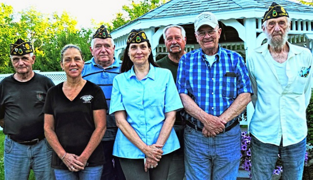 York American Legion Post 56 members, from left: Jim Fitzpatrick, Kandace Minihane, Bill Hallisey, Cmdr. Robin Greene, Chuck Arboch, Pete Doe and Robert Seeley.