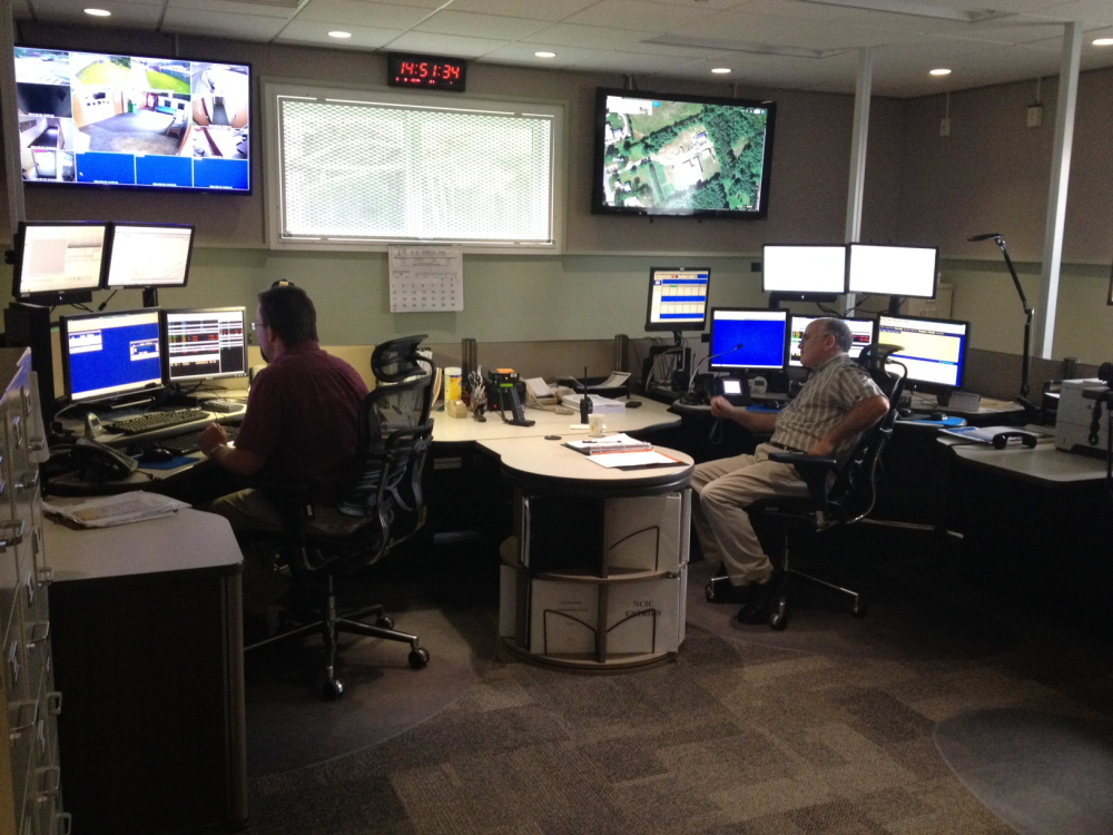 Dispatchers test out equipment at the new Franklin County Communications Center last year. The county commissioners this week hired a company that will help upgrade equipment to reach some towns that were getting poor reception.