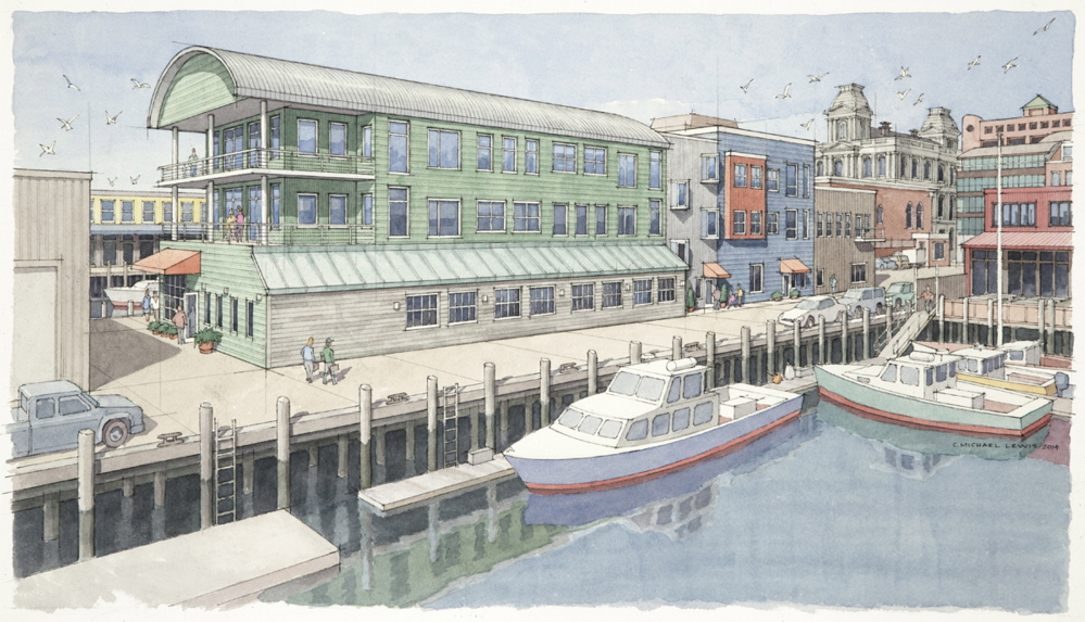 Rendering of Maine Wharf provided by Compass Commercial Brokers