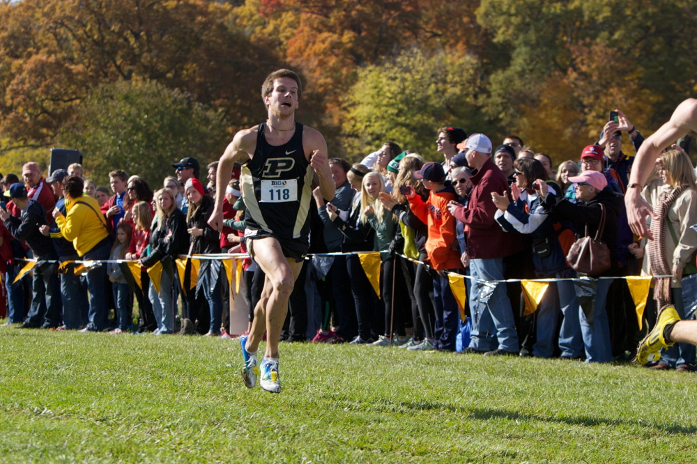 Contributed photo   Former Madison standout runner Matt McClintock is entering his third year at Purdue. He is coming off one of the best seasons in school history, setting Purdue records in the 3,000-meter and 5,000-meter in indoor track.