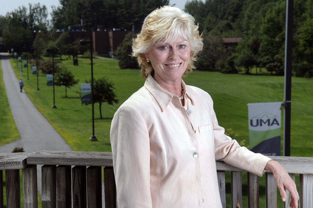 University of Maine at Augusta President Allyson Handley announced Monday that she is departing to assume a post at National University in San Diego.