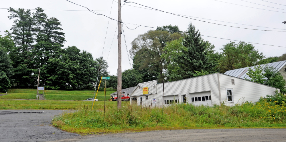 The corner of Hospital Street and Route 139 in Norridgewock, the site of a proposed Dunkin'Donuts.