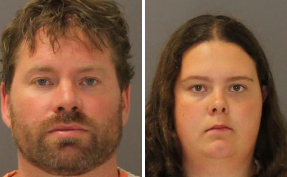 Stephen Howells II, left, and Nicole Vaisey, were arraigned late Friday on charges they intended to physically harm or sexually abuse two Amish sisters after abducting them from a roadside farm stand.