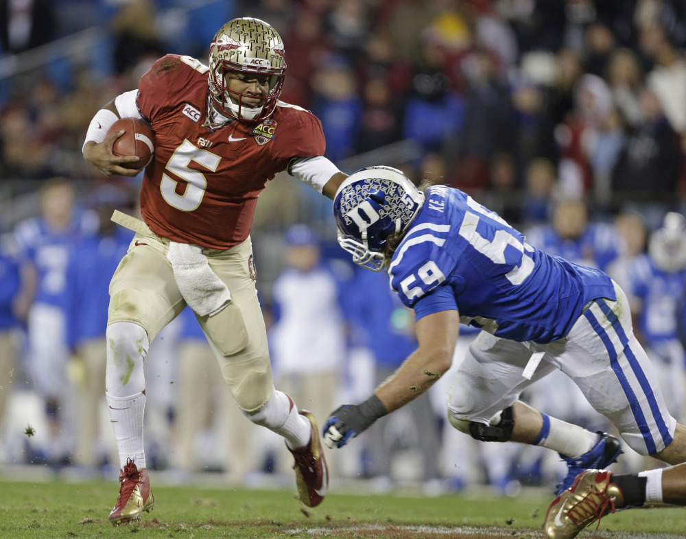 Quarterback Jameis Winston and Florida State is No. 1 in The Associated Press preseason college football poll.