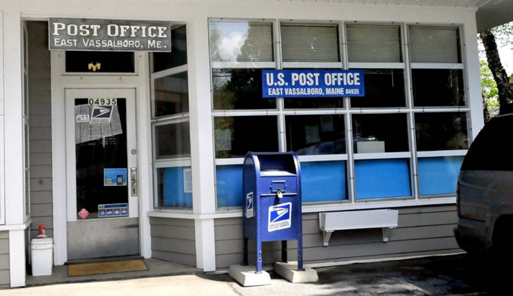 The East Vassalboro Post Office on Monday, May 20, 2013.