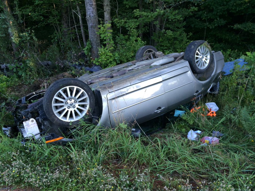 A 24-year-old Skowhegan man escaped injury after falling asleep on his way home from work Monday afternoon and losing control of his car, which rolled over on Waterville Road. The car, which was destroyed, knocked over at least two trees in the accident. Clifford Warren said that although he was unconscious at first and had trouble unlocking the doors of the car, he was able to get himself out before firefighters and police arrived.