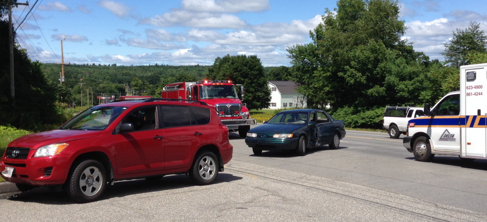 The Monday accident forced the Waterville-bound side of the road to be closed for about 45 minutes.