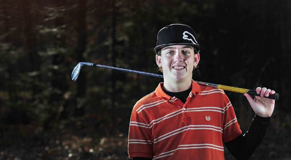 Staff photo by Joe Phelan   Former Maranacook standout Luke Ruffing enjoyed a strong showing at the New England Junior championships. He finished third overall and had the low score for Maine, shooting a three-round 219.