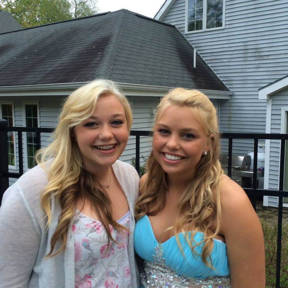 Haley Stoneton, left, Kelsey's 14-year-old sister, starts high school this year, realizing there will be good days and bad days ahead in a place her sister filled with memories for others.
