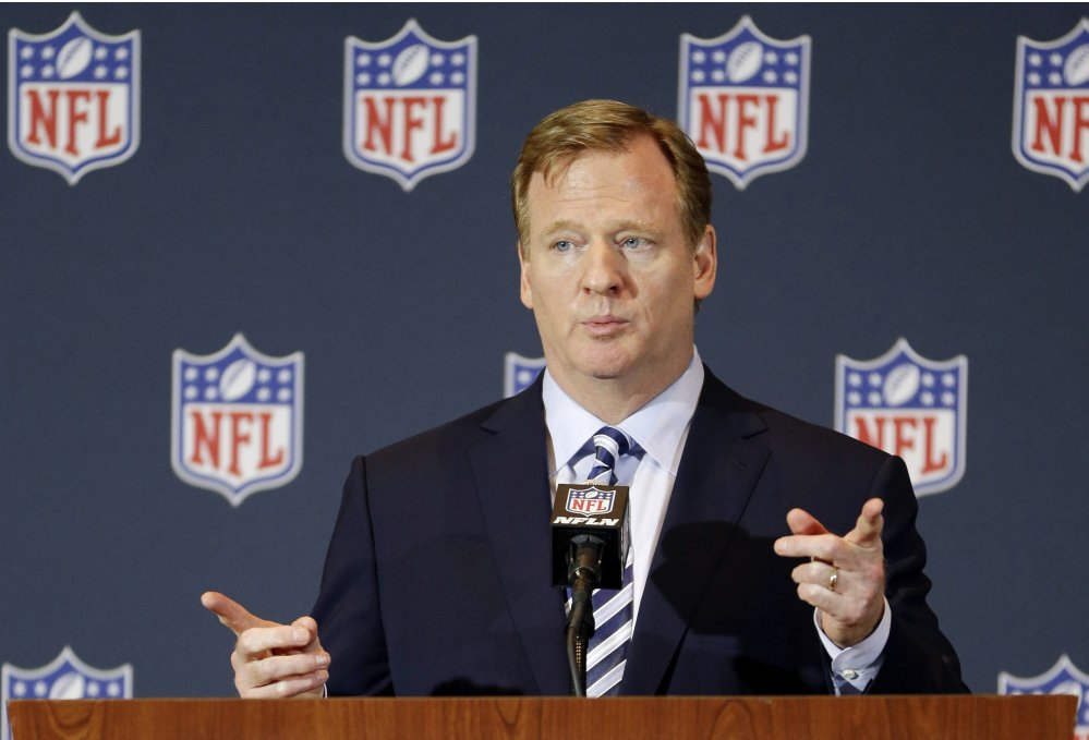 NFL Commissioner Roger Goodell said Thursday that players would be subject to a six-week suspension for their first domestic violence offense.