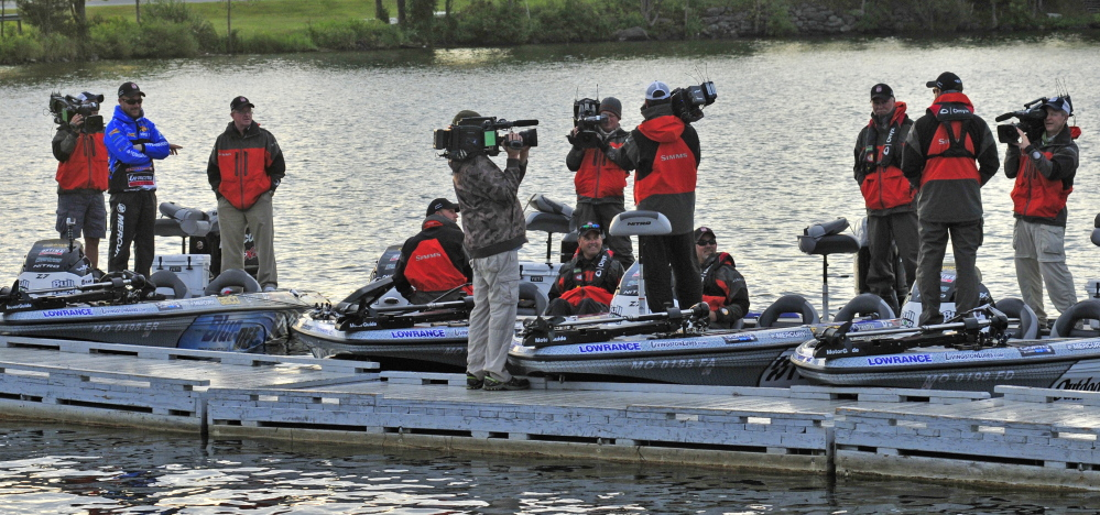 Central maine lakes draw major league fishing anglers for for Fishing lakes around me
