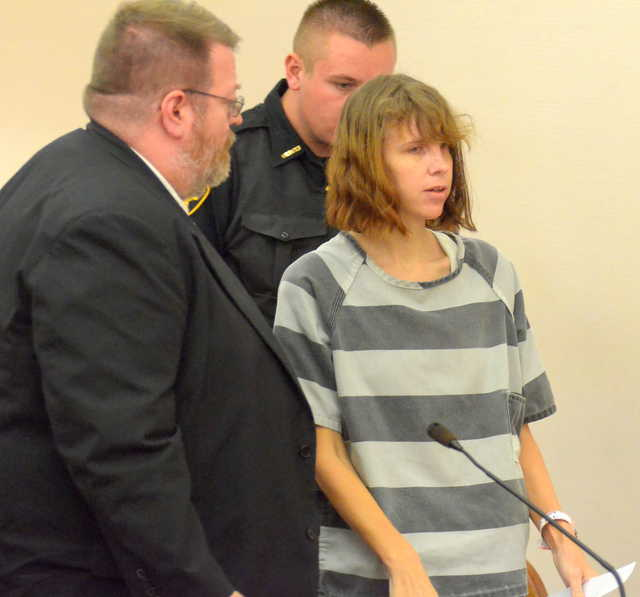 Contributed photo by Greg Sowinski, The Lima News Ann Marie Miller appears in court in Allen County, Ohio Wednesday.