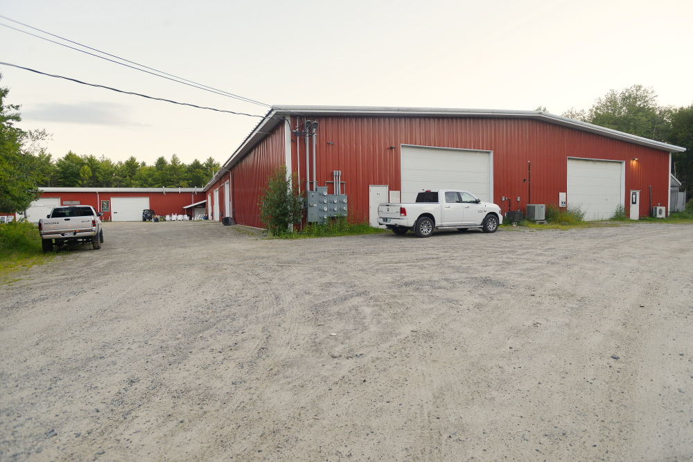 A warehouse on White Birch Lane in York, Maine, where five people are growing medical marijuana.