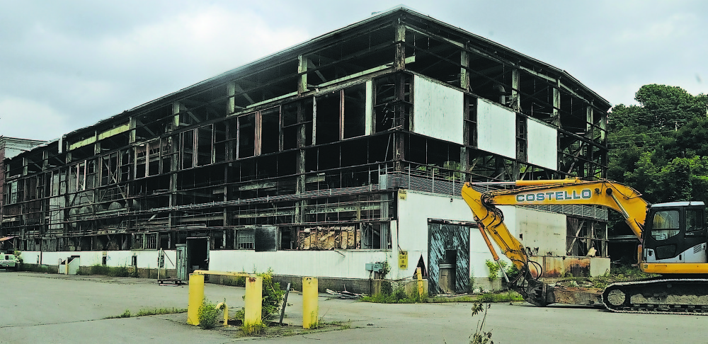 Police responded to the site former Statler Tissue mill in Augusta on Friday. The mill was torn down in 2009.