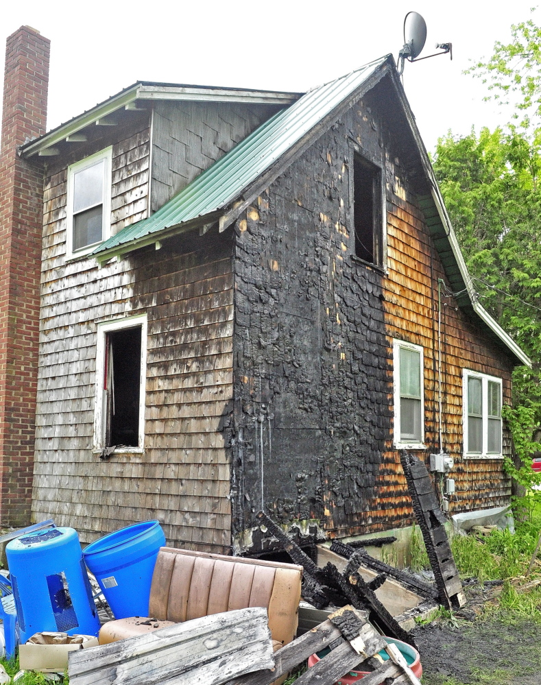 An early morning fire on May 31, 2014 heavily damaged a home at 4 Pine Knoll Road in Winthrop.
