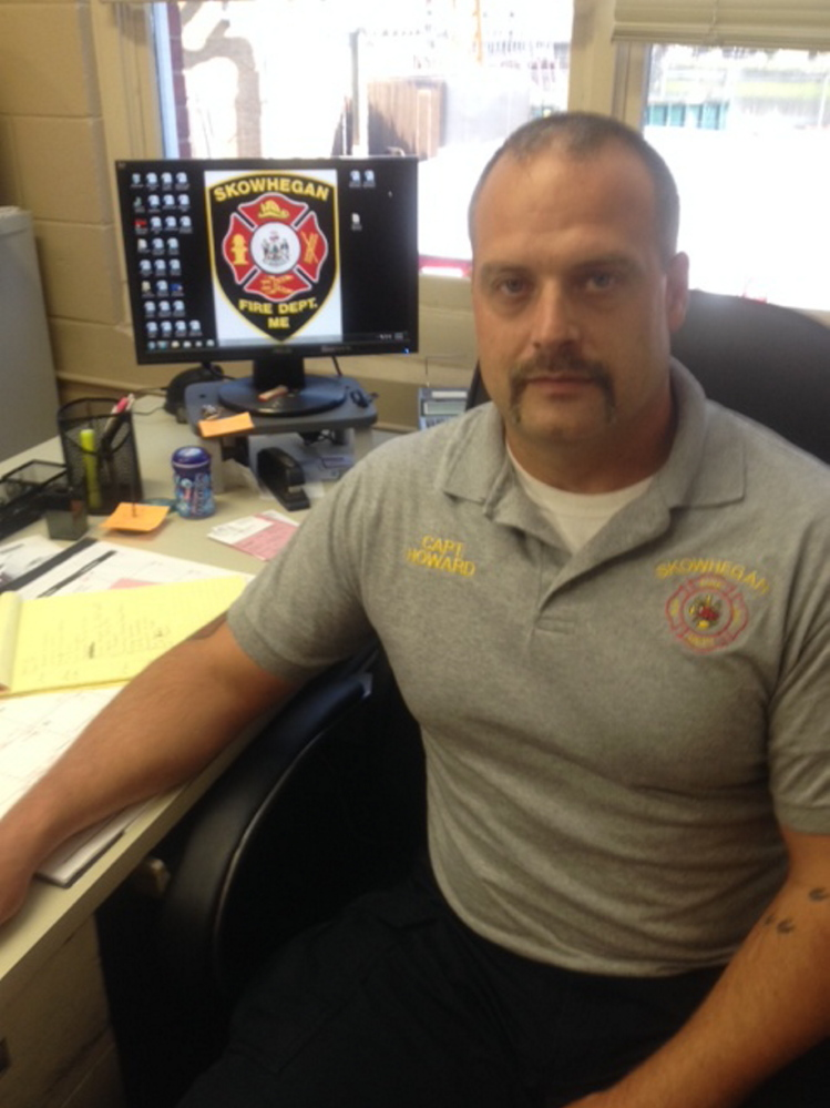 Shawn Howard, who has served as a fire captain in Skowhegan and fire chief in Madison, has been promoted to fire chief in Skowhegan and will lead the fire departments in both towns.