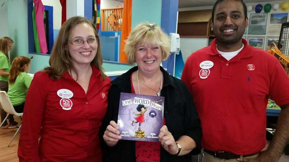Target Front Sales Manager Jennifer Heath-Stilwell, Maine children's book illustrator, Hazel Mitchell, and Store Manager Puneet Mathur, all attended an event held recently at the Children's Discovery Museum in Augusta. It was the first in a series of literacy-based events, funded by Target, that will be occurring at the museum. For more information about the museum's Family Reading Partnership, visit www.childrensdiscoverymuseum.org.