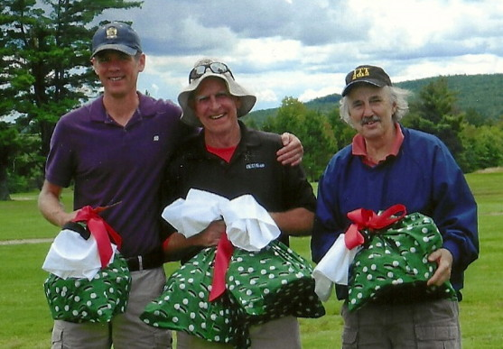 From left are event winners Lewi Chamberlain, Pete Chamberlain and Dave Haeger.