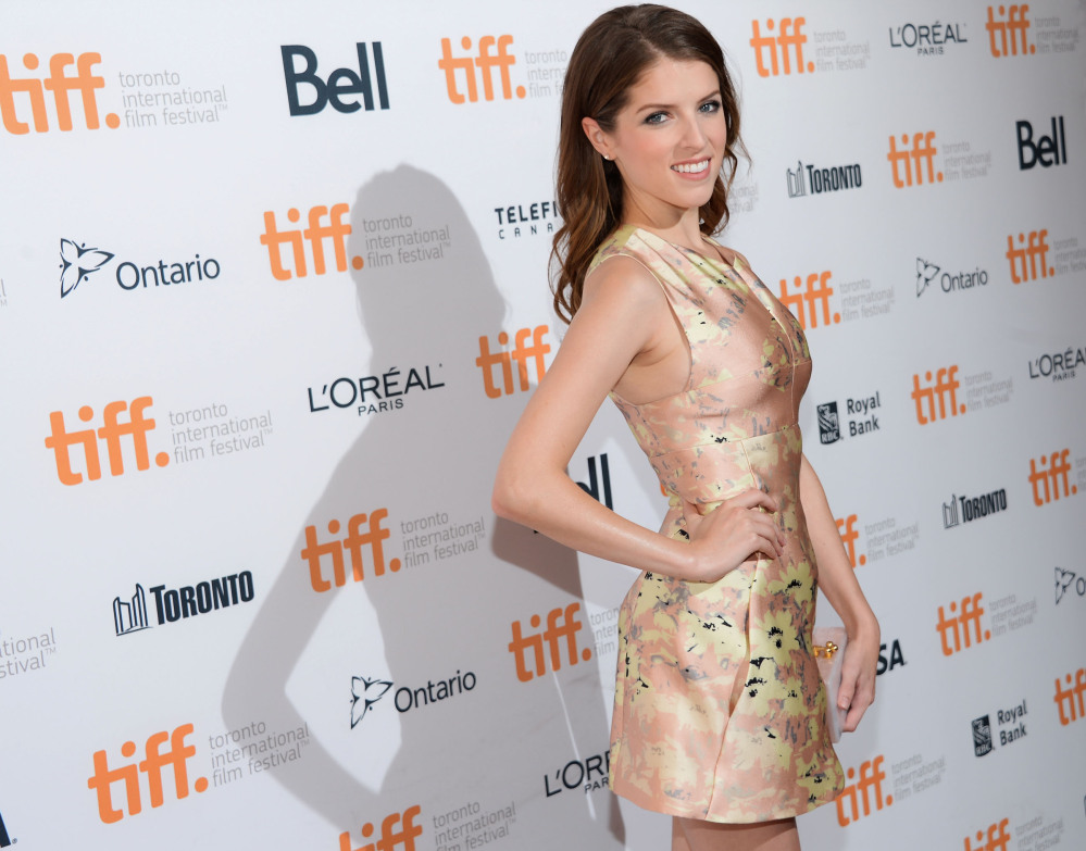 Actress Anna Kendrick attends a premiere at the Toronto Film Festival on Monday in Toronto.