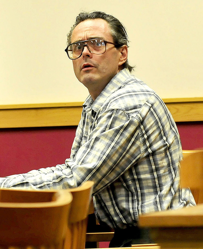 Robert Dale at a court hearing in August on the town of Fairfield's request that a judge find him in contempt of court for failing to clean up his property on U.S. Route 201.