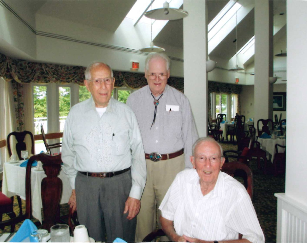 "From left are Robert Ilfill, Herman ""Red"" Nichols and Roy Winchenbach."