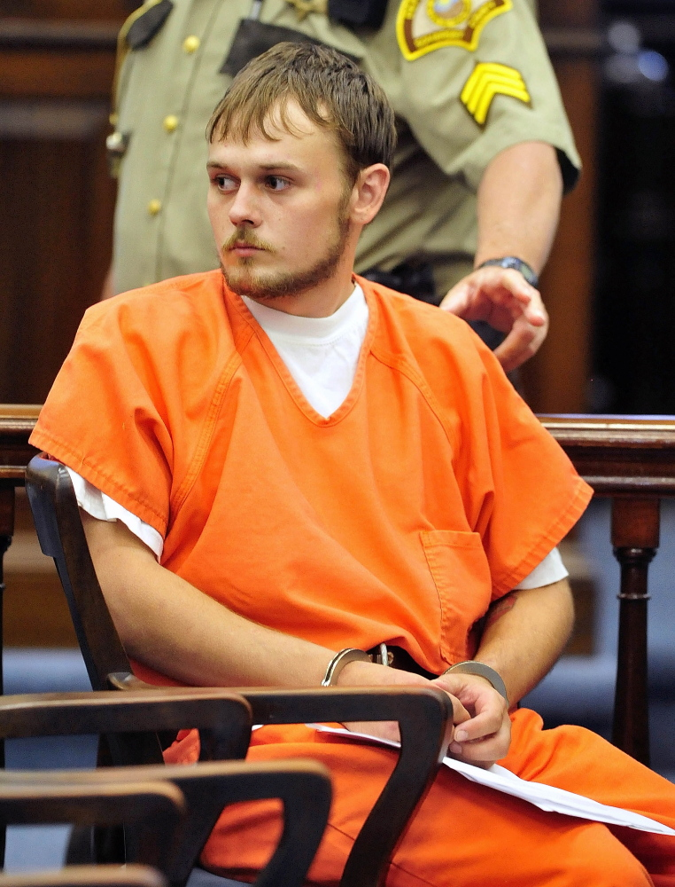 Jason Cote, 22, of Hurd's Corner Road, appears in July 2013 in Somerset County Superior Court in Skowhegan.