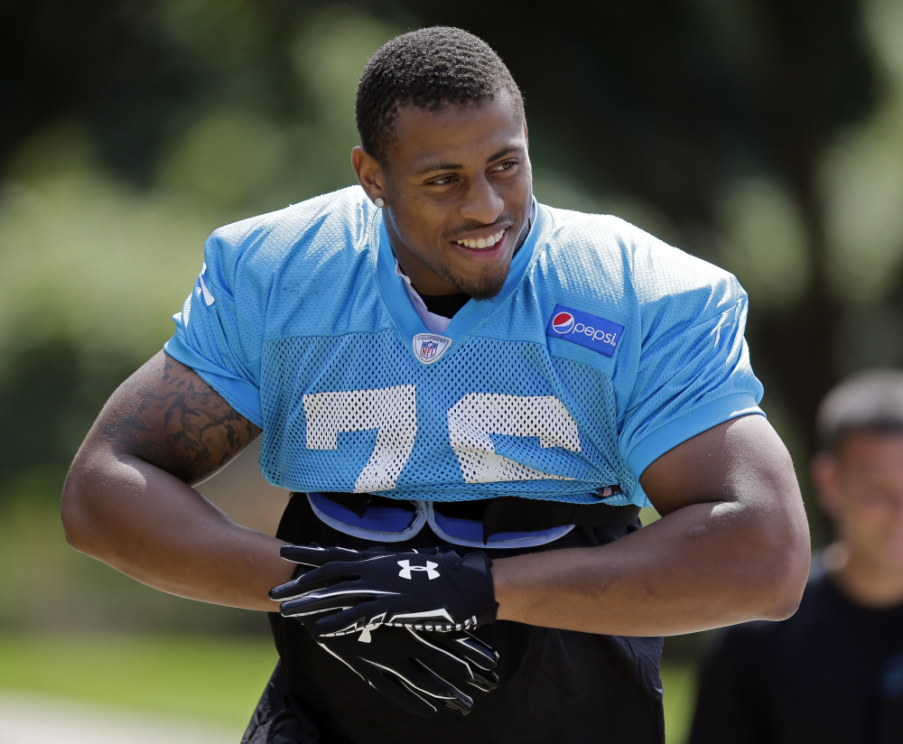 Carolina's Greg Hardy will not play in Sunday's game against the Lions. The Panthers decided to deactivate him before the game.