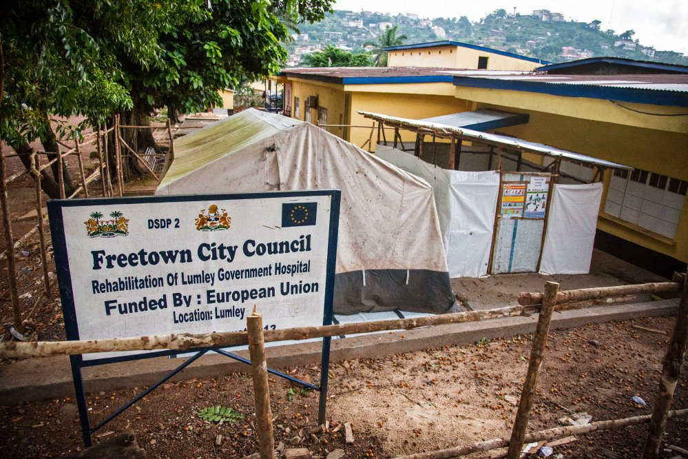 A area that was used to treat Ebola virus patients forming part of the Lumley Government Hospital, where medical doctor Olivet Buck worked before contracting the Ebola virus and passing away on Saturday near the city of Freetown, Sierra Leone, Monday.