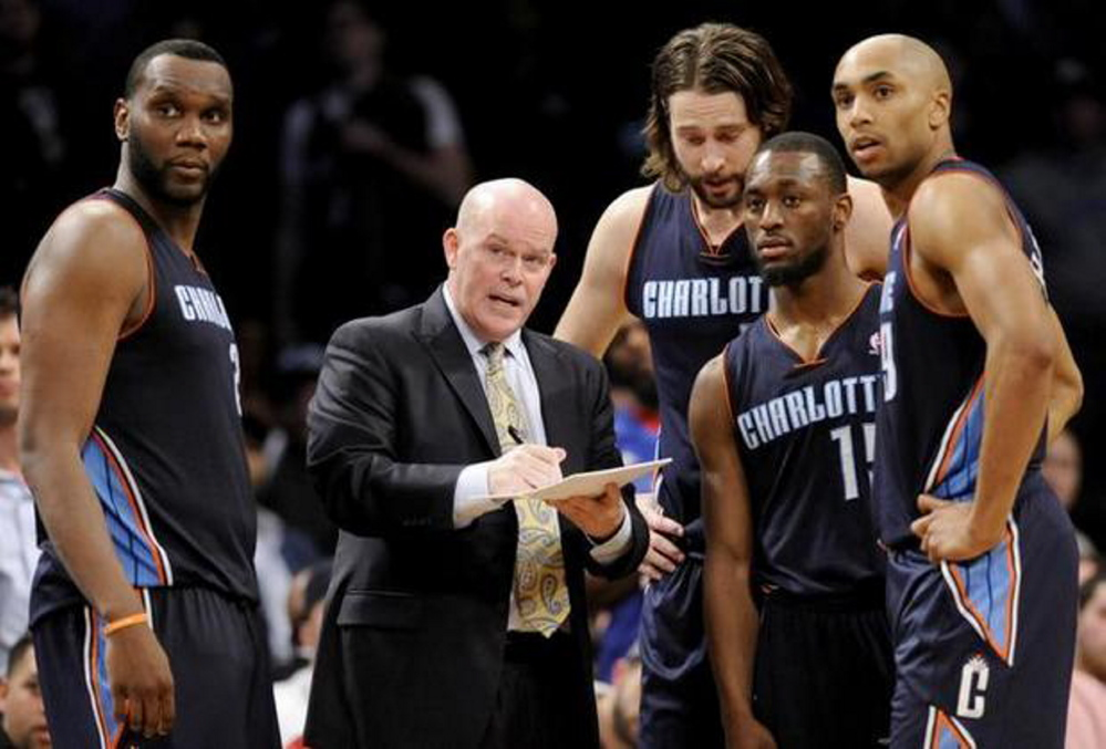 AP photo   Charlotte Hornets coach Steve Clifford will host a basketball clinic at the University of Maine at Farmington on Sunday.