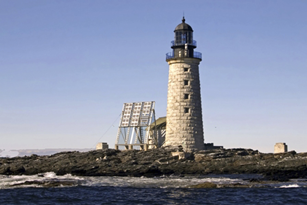 The Halfway Rock Light Station is located on a small island off Harpswell. It is halfway between Cape Elizabeth and Cape Small.