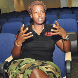 Clare Byarugba, an activist from Uganda, is scheduled to participate in an Oct. 8-10 human rights conference at Colby College in Waterville.
