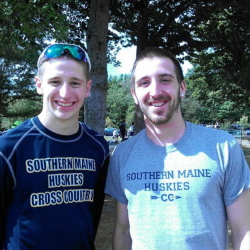 Contributed photo   Kevin Desmond, left, and Will Lundquist are enjoying standout seasons for the University of Southern Maine cross country team.